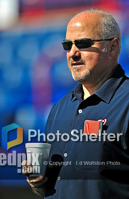 14 March 2010: Washington Nationals' General Manager Mike Rizzo watches batting practice prior to a Spring Training game against the St. Louis Cardinals at Space Coast Stadium in Viera, Florida. The Cardinals defeated the Nationals 7-3 in Grapefruit League action. Mandatory Credit: Ed Wolfstein Photo
