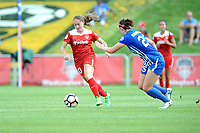 Boyds, MD - Saturday August 12, 2017 Estefanía Banini, Morgan Andrews  during a regular season National Women's Soccer League (NWSL) match between the Washington Spirit and The Boston Breakers at Maureen Hendricks Field, Maryland SoccerPlex.