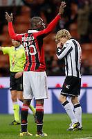 "Esultanza dopo il goal Mario Balotelli Milan, goal celebration, Milano 3/2/2013 .Stadio ""S.Siro"".Football Calcio 2012/2013 Serie A.Milan Vs Udinese.Foto Marco Bertorello Insidefoto"