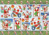 Alfredo, CHRISTMAS SANTA, SNOWMAN, decoupage, paintings(BRTOD1506CP,#X#,#DP#) Weihnachten, Navidad, illustrations, pinturas