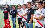 AMSTELVEEN  -  coach Jan John van 't Land (Adam)    Hoofdklasse hockey dames ,competitie, heren, Amsterdam-Pinoke (3-2) met oa keeper Jan de Wijkerslooth (Adam) , Nicky Leijs (Adam) ,Jan-Willem Buissant (Adam) , Niek Merkus (Adam) . COPYRIGHT KOEN SUYK