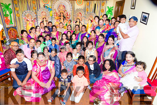 The Killarney Hindu Cultural organistation celebrated the Durga Puja festival in Killarney on Thursday night