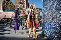 NEW YORK - JANUARY 06: Revelers dressed like kings dance during Three Kings Day Parade in East Harlem January 6, 2017 in New York City. The parade celebrates the Feast of the Epiphany, also known as Three Kings Day, marking the Biblical story of the visit of three kings to Bethlehem to visit the baby Jesus, revealing his divinity. Photo by VIEWpress/Maite H. Mateo