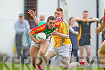 Feale Rangers in action against  Mid Kerry in the First Round of the Kerry Senior Football Championship at O'Rahilly Park Ballylongford on Sunday.