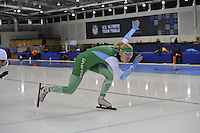 SPEED SKATING: SALT LAKE CITY: 18-11-2015, Utah Olympic Oval, ISU World Cup, training, Bo van der Werff (NED), ©foto Martin de Jong
