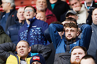 Swansea supporters during the Sky Bet Championship match between Barnsley and Swansea City at Oakwell Stadium, Barnsley, England, UK. Saturday 19 October 2019