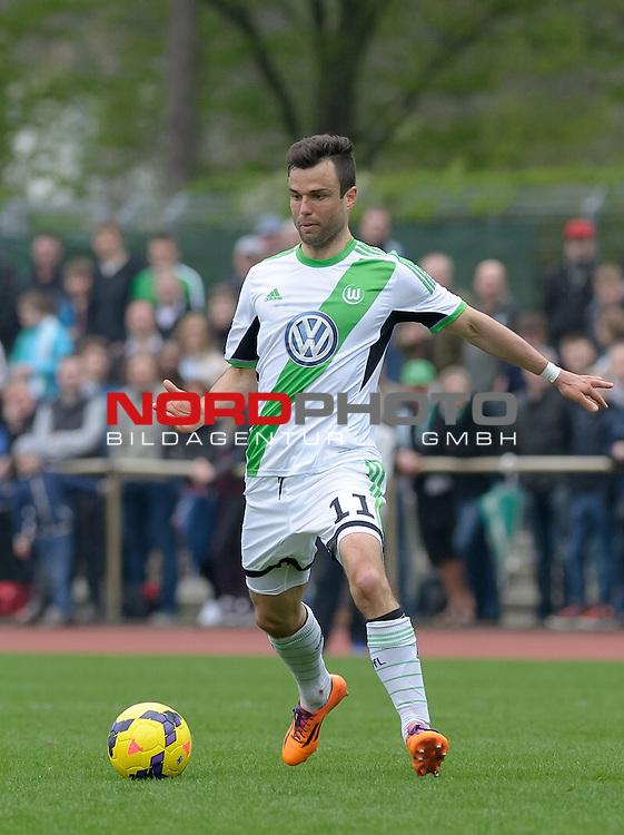 06.04.2014, Platz 11, Bremen, GER, RLN, Werder Bremen II vs VfL Wolfsburg II, im Bild Bastian Schulz (Wolfsburg #11)<br /> <br /> Foto &copy; nordphoto / Frisch
