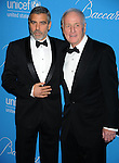 BEVERLY HILLS, CA. - December 10: George Clooney and Jerry Weintraub attend the UNICEF Ball honoring Jerry Weintraub at The Beverly Wilshire Hotel on December 10, 2009 in Beverly Hills, California.