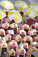 Bishops attend the canonisation mass of Mother Teresa by Pope Francis, in St Peter's square at the Vatican on September 4, 2016.