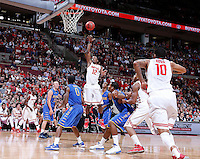 Ohio State Buckeyes forward Sam Thompson (12) goes up for two during the second half of the NCAA men's basketball game at Value City Arena on Wednesday, December 18, 2013. Ohio State beat Delaware, 76-64. (Columbus Dispatch photo by Jonathan Quilter)