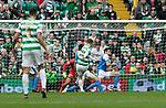Celtic v St Johnstone &hellip;26.08.17&hellip; Celtic Park&hellip; SPFL<br />Callum McGregor scores the equaliser<br />Picture by Graeme Hart.<br />Copyright Perthshire Picture Agency<br />Tel: 01738 623350  Mobile: 07990 594431