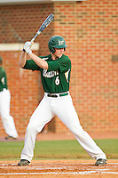Brett Lang (6) of the Charlotte 49ers at bat against the High Point Panthers at Willard Stadium on February 20, 2013 in High Point, North Carolina.  The 49ers defeated the Panthers 12-3.  (Brian Westerholt/Four Seam Images)