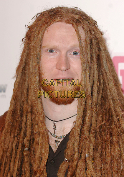 NEWTON FAULKNER.BT Digital Music Awards 2007 held at the Roundhouse, Chalk Farm, London, England..October 2nd 2007.headshot portrait dreadlocks beard facial hair .CAP/ BEL.©Tom Belcher/Capital Pictures.