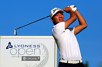 Ashun Wu (CHN) during the second round of the Lyoness Open powered by Organic+ played at Diamond Country Club, Atzenbrugg, Austria. 8-11 June 2017.<br /> 09/06/2017.<br /> Picture: Golffile | Phil Inglis<br /> <br /> <br /> All photo usage must carry mandatory copyright credit (&copy; Golffile | Phil Inglis)