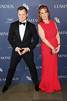 Taron Eggerton and Sarah Ferguson<br /> arriving for the LUMINOUS Gala 2019 at the Roundhouse Camden, London<br /> <br /> ©Ash Knotek  D3522 01/10/2019