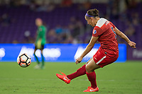 Orlando, FL - Tuesday August 08, 2017: Whitney Church during a regular season National Women's Soccer League (NWSL) match between the Orlando Pride and the Chicago Red Stars at Orlando City Stadium.