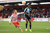 Marcus Bean of Wycombe Wanderers in action during the Sky Bet League 2 match between Stevenage and Wycombe Wanderers at the Lamex Stadium, Stevenage, England on 17 October 2015. Photo by PRiME Media Images.