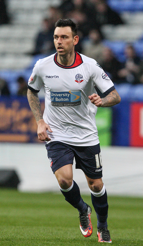 Bolton Wanderers' Mark Davies in action<br /> <br /> Photographer Alex Dodd/CameraSport<br /> <br /> Football - The Football League Sky Bet Championship - Bolton Wanderers v Charlton Athletic - Tuesday 19th April 2016 - Macron Stadium - Bolton <br /> <br /> &copy; CameraSport - 43 Linden Ave. Countesthorpe. Leicester. England. LE8 5PG - Tel: +44 (0) 116 277 4147 - admin@camerasport.com - www.camerasport.com
