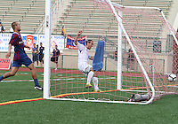 Antonio Ribeiro #26 of the Montrteal Impact scores during an NASL match against Crystal Palace Baltimore at Paul Angelo Russo Stadium in Towson, Maryland on August 21 2010.Montreal won 5-0.