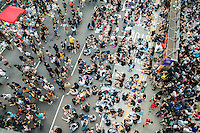 Hong Kong, Government Offices, 1 October 2014<br /> <br /> Students and other supporters of the Occupy Central movement congregating around the government offices area at Tamar. All the roads in the area are blocked from traffic and public transport.<br /> <br /> Photo Kees Metselaar