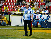 BUCARAMANGA-COLOMBIA,21 -07-2018.Julio Comesaña director técnico del Atlético Junior.Acción de juego entre los equipos Atlético Bucaramanga y  Atlético Junior durante partido por la fecha 1 de la Liga Águila II 2018 jugado en el estadio Alfonso López de la ciudad de Bucaramanga./Julio Comesana coach of Atletico Junior.Action game betwen Atletico Bucaramanga and  Atletico Junior during the match for the date 1 of the Aguila League II 2018 played at Alfonso Lopez  stadium in Bucaramanga city. Photo: VizzorImage/ Oscar Martínez / Contribuidor