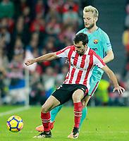 Athletic de Bilbao's Inigo Lekue (l) and FC Barcelona's Ivan Rakitic during La Liga match. October 28,2017. (ALTERPHOTOS/Acero) /NortePhoto.com
