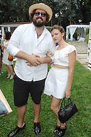 Alex Miller, Paige Elkington==<br /> LAXART 5th Annual Garden Party Presented by Tory Burch==<br /> Private Residence, Beverly Hills, CA==<br /> August 3, 2014==<br /> ©LAXART==<br /> Photo: DAVID CROTTY/Laxart.com==