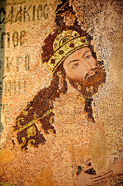 The 11th century Roman Byzantine Church of the Holy Saviour in Chora and its mosaic of Michael Palialogos VIII. Endowed between 1315-1321  by the powerful Byzantine statesman and humanist Theodore Metochites. Kariye Museum, Istanbul