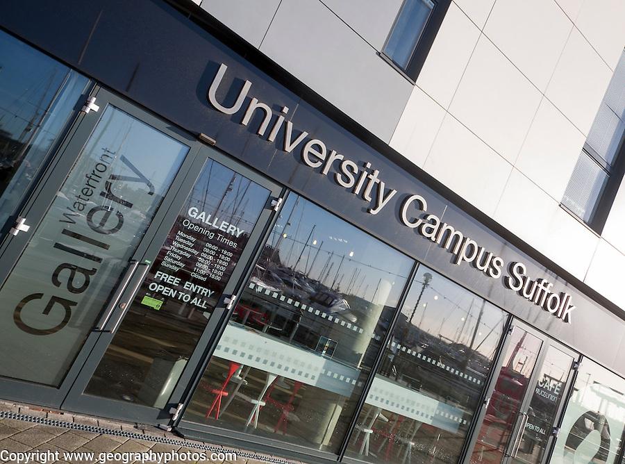 Waterfront art gallery University Campus Suffolk building, Ipswich, Suffolk, England