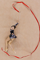 Daria Kondakova (RUS) performs with the ribbon during the final of the 2nd Garantiqa Rythmic Gymnastics World Cup held in Debrecen, Hungary. Sunday, 07. March 2010. ATTILA VOLGYI