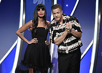 BEVERLY HILLS, CA - MARCH 28:  Jameela Jamil, Dan Reynolds at the 30th Annual GLAAD Media Awards at the Beverly Hilton on March 28, 2019 in Beverly Hills, California. (Photo by Frank Micelotta/PictureGroup)