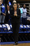 23 November 2014: Duke head coach Joanne P. McCallie. The Duke University Blue Devils hosted the Marquette University Golden Eagles at Cameron Indoor Stadium in Durham, North Carolina in a 2014-15 NCAA Division I Women's Basketball game. Duke won the game 83-51.