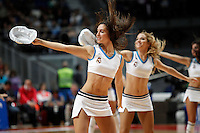 Real Madrid's cheerleaders during Liga Endesa ACB match.November 11,2012. (ALTERPHOTOS/Acero) /NortePhoto