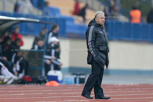 Alberto Zaccheroni (JPN), OCTOBER 15, 2013 - Football / Soccer : International friendly match between Belarus 1-0 Japan at Torpedo Stadium, Zhodino, Belarus. (Photo by AFLO) [2268]