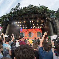 The Crowd party as Beck Hansen (Beck) performs during British Summertime Music Festival at Hyde Park, London, England on 18 June 2015. Photo by Andy Rowland.