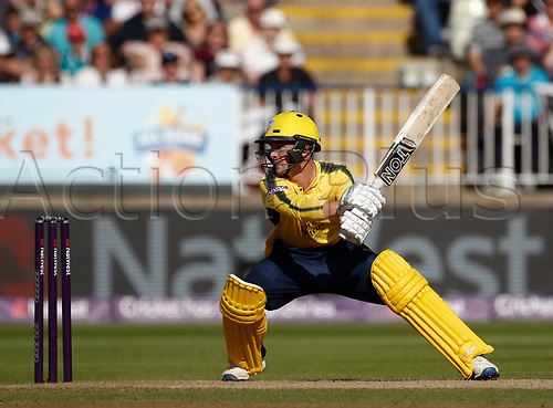 2nd September 2017, Edgbaston, Birmingham, England; Natwest T20 Blast Finals Day, Notts Outlaws versus Hampshire; Calvin Dickinson of Hampshire at the crease
