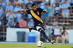 29 August 2014: Cal's Paul Salcedo. The University of North Carolina Tar Heels hosted the University of California Bears at Fetzer Field in Chapel Hill, NC in a 2014 NCAA Division I Men's Soccer match. North Carolina won the game 3-1.