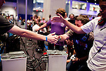 August 28, 2010. Raleigh, North Carolina.. Amateur players shake hands after a game of Halo 3.. Major League Gaming (MLG), the league for professional videogame players, held their 50th Pro Circuit competition at the Raleigh Convention Center, with gamers from all over the country coming to for 3 days of competition in Halo 3, Tekken 6, Super Smash Bros. Brawl, Starcraft 2 and World of Warcraft.