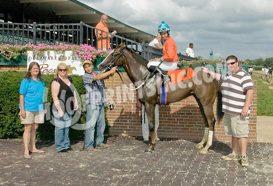 Groom's Spirit winning at Delaware Park on 9/27/11