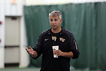 WINSTON-SALEM, NC - JANUARY 23: Wake Forest head coach Tony Bresky. The Wake Forest University Demon Deacons hosted Coastal Carolina University on January 23, 2018 at Wake Forest Tennis Complex in Winston-Salem, NC in a Division I College Men's Tennis match. Wake Forest won the match 6-1.