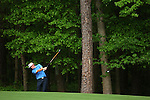 AUGUSTA, GA- APRIL 12:  Brandt Snedeker hits out of the rough on the 11th fairway during a the 3rd round of the 2008 Masters on April 12, 2008 at Augusta National Golf Club in Augusta, Georgia. (Photo by Donald Miralle)