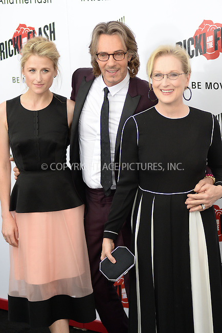 WWW.ACEPIXS.COM<br /> August 3, 2015 New York City<br /> <br /> Mamie Gummer, Rick Springfield and Meryl Streep attending the New York premiere of 'Ricki And The Flash' at AMC Lincoln Square Theater on August 3, 2015 in New York City.<br /> <br /> Credit: Kristin Callahan/ACE <br /> <br /> <br /> Tel: (646) 769 0430<br /> e-mail: info@acepixs.com<br /> web: http://www.acepixs.com