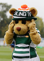 The mascot for Ealing Trailfinders RFC adjusts it's head during the Greene King IPA Championship match between Ealing Trailfinders and Bedford Blues at Castle Bar , West Ealing , England  on 29 October 2016. Photo by Carlton Myrie / PRiME Media