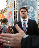 Evan Rodrigues (BU - 17) - The teams walked the red carpet through the Fan Fest outside TD Garden prior to the Frozen Four final on Saturday, April 11, 2015, in Boston, Massachusetts.