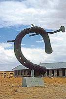 "Marfa:  Sculpture by Claes Oldenburg, 1991. ""Monument to the Last Horse"". Chinati Foundation. Photo '96."