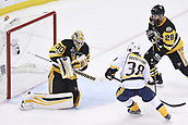 8th June 2017, Pittsburgh, PA, USA; Pittsburgh Penguins goalie Matt Murray (30) makes a save with Nashville Predators right wing Viktor Arvidsson (38) in front during the first period. Game Five was won 6-0 by the Pittsburgh Penguins against the Nashville Predators during the 2017 NHL Stanley Cup Final on June 8, 2017, at PPG Paints Arena in Pittsburgh, PA. The Penguins take a 3-2 series lead in the best of seven series with the victory.