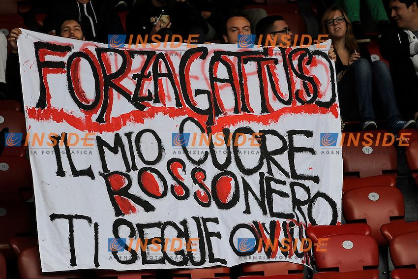 15.Jul.2012; Zurigo; Fussball Super League - Grasshopper Club Zurigo - FC Sion;.Milan Fans mit Gattuso Transparent (Andy Mueller/freshfocus/Insidefoto) .Football Calcio 2012/2013