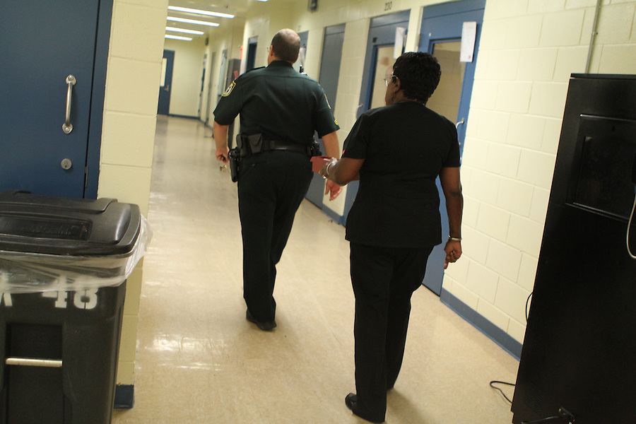 MAE GAMMINO/SPECIAL TO TREASURE COAST NEWSPAPERS<br /> Image from Wednesday morning during medication distribution to inmates at the Indian River County Jail in Vero Beach.<br /> <br /> <br /> <br /> TAKEN 08/7/2013