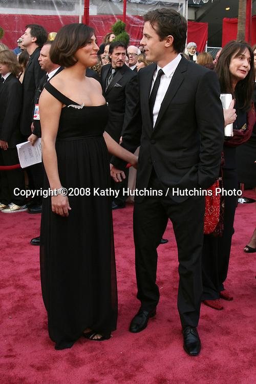 Casey Affleck & Wife Summer Phoenix.80th Academy Awards ( Oscars).Kodak Theater.Los Angeles, CA.February 24, 2008.©2008 Kathy Hutchins / Hutchins Photo.