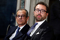 Minister of Economy Giovanni Tria and Minister of Justice Alfonso Bonafede<br /> Rome December 19th 2018. Quirinale. Traditional exchange of Christmas wishes between the President of the Republic and the institutions.<br /> Foto Samantha Zucchi Insidefoto